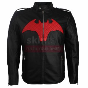 Dc Comics Batman Logo Leather Jacket