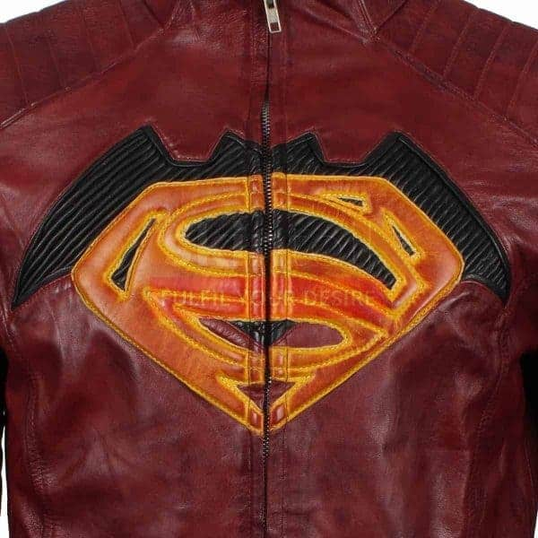 batman vs superman dawn of justice jacket superman logo