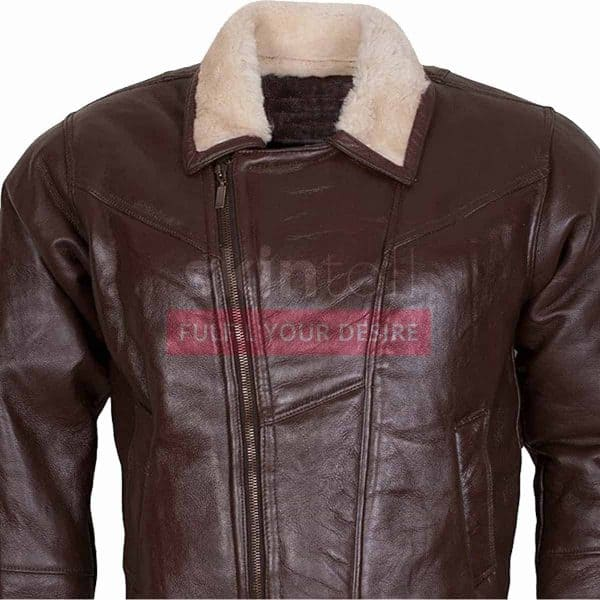 B3 Aviator Ginger Faux Fur Linnig Winters Leather Jacket – Copy