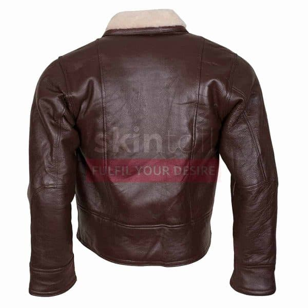 B3 Aviator Ginger Faux Fur Linnig Winters Warm Brown Leather Jacket