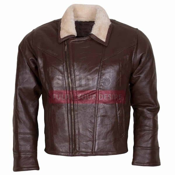 B3 Aviator Ginger Fur Linnig Winters Leather Jacket
