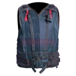 tom hardy bane biker leather vest mens