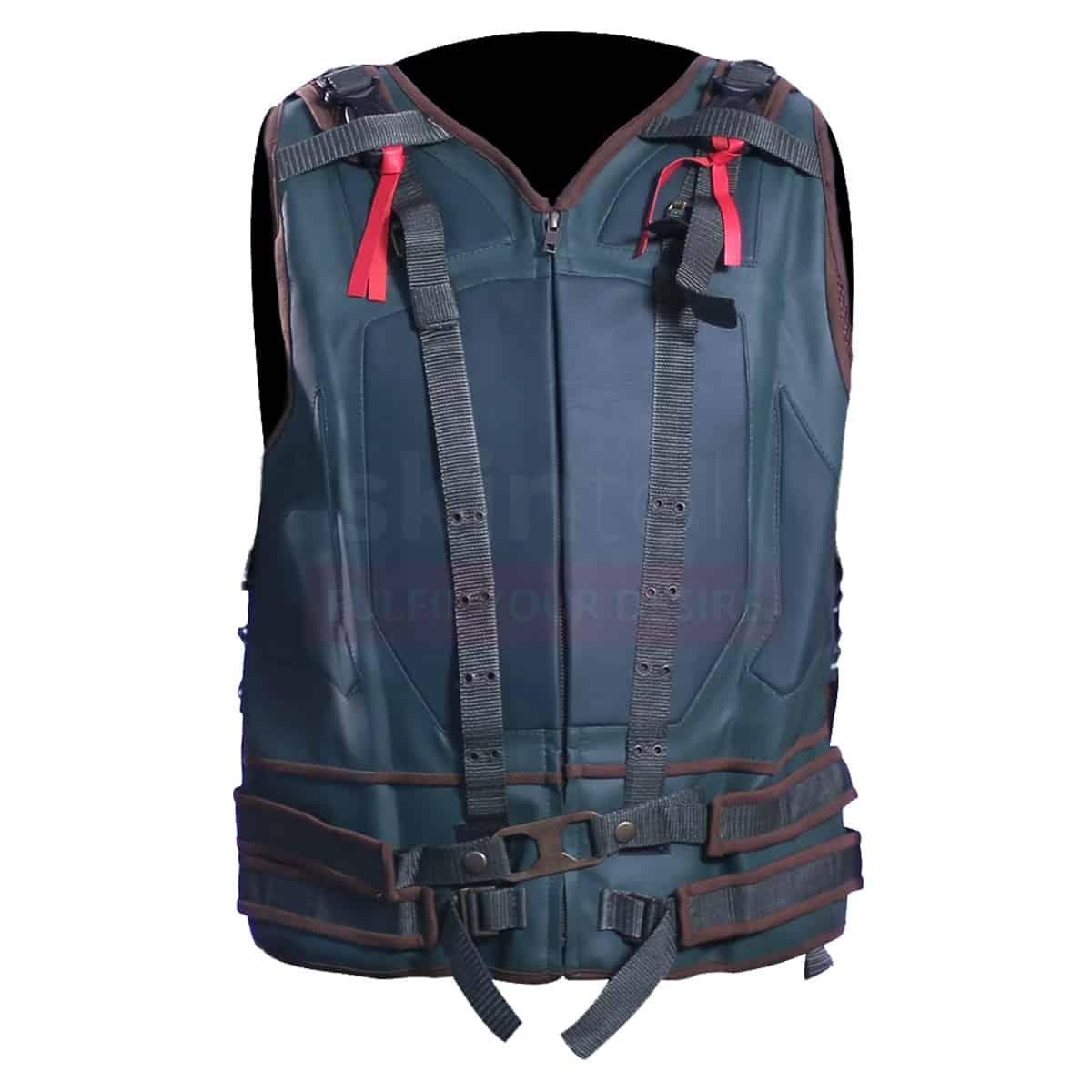 Mens jackets sale - Tom Hardy Bane Biker Leather Vest Mens