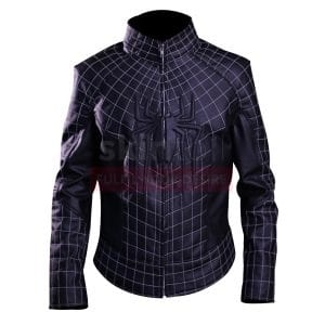black spider man 2 leather jacket