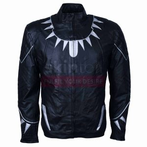 Civil War Black Panther Leather Jacket