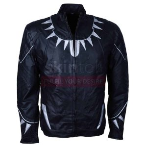 Captain America Black Panther Civil War leather jacket