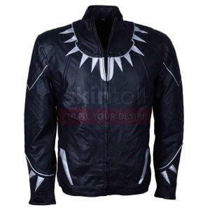 Captain America Black Panther Civil War leather jacket