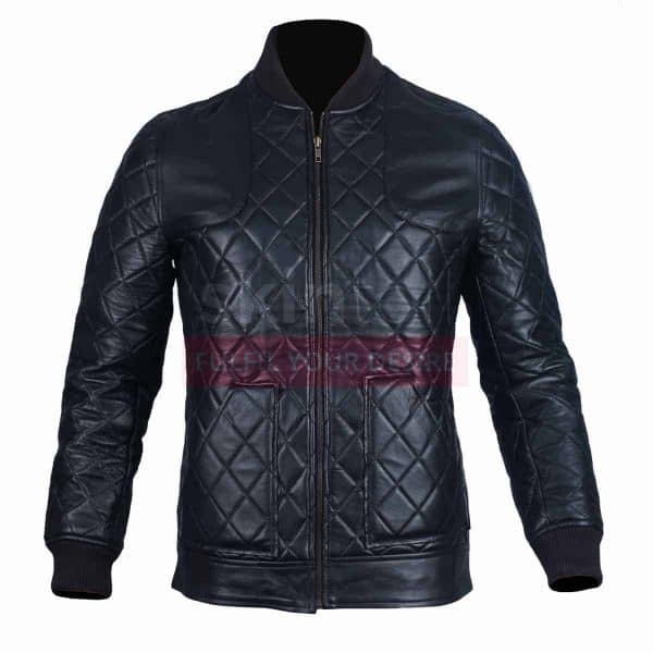 Classic Diamond Quilted Fashion Leather 2 Jacket