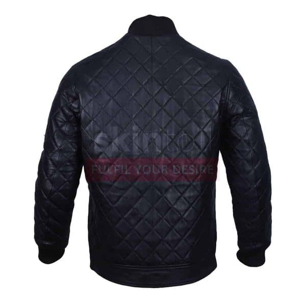 Classic Diamond Quilted Fashion Leather Jacket