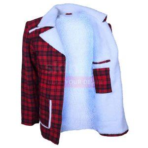 Ryan Reynolds Deadpool Shearling Fur Coat Jacket
