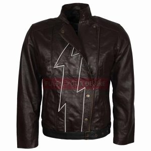 The Flash Season 2 Fire Storm Brown Costume Leather Jacket