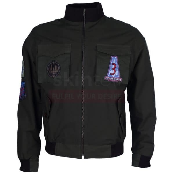 Bomber Flying Embroidered Cotton Jacket