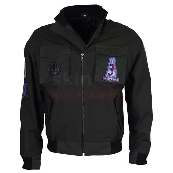 Green Air Flight Bomber Flying Embroidered Jacket