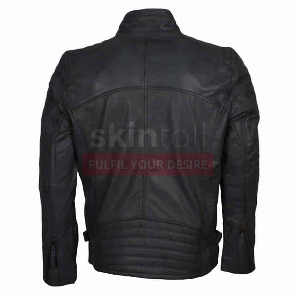 Grey Motorcycle Top Grade Leather Jacket