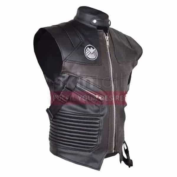 Hawk Eye Avengers Jeremy Renner Leather MotorBiker Vest