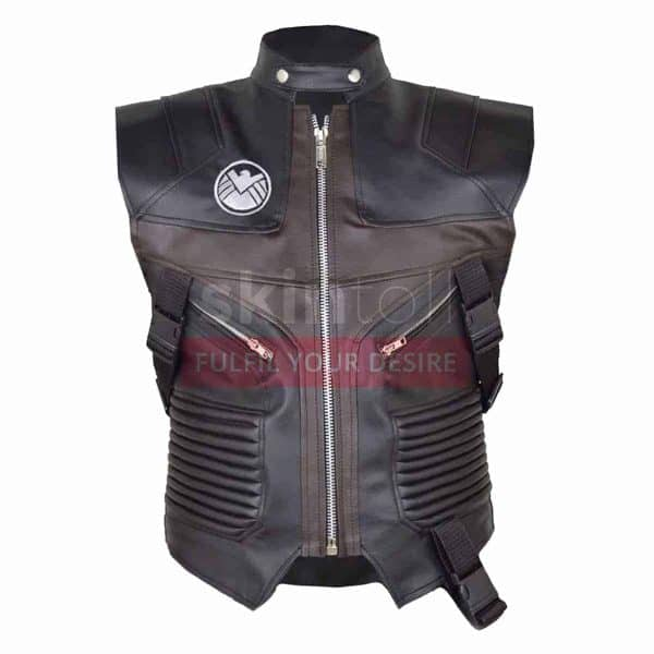 Hawk Eye Avengers Jeremy Renner Leather Vest