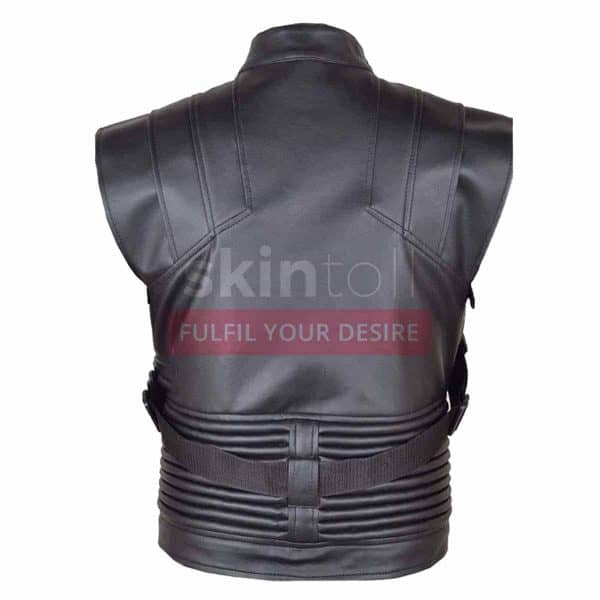 Hawk Eye Avengers Jeremy Renner Motorcycle Leather Vest