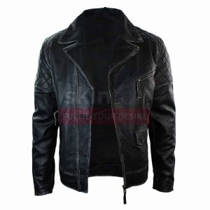 Men Motorcycle Brando Black Punk Vintage Leather Jacket