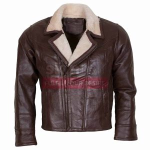 B3 Aviator Ginger Fur Lined Hooded Winters Warm Brown Leather Jacket