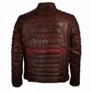 Mens Vintage Classic Fashion Motorcycle Rider Cafe Leather Jacket