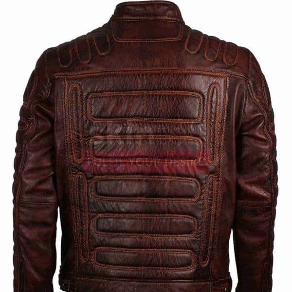 Mens Vintage Classic Fashion Motorcycle Rider Cafe Racer Leather Jacket