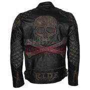 skull rider bike leather jackets