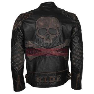 skull rider bike leather jackets