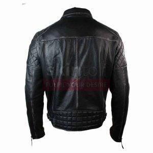 Mens Motorcycle Brando Black Punk Vintage Leather Jacket