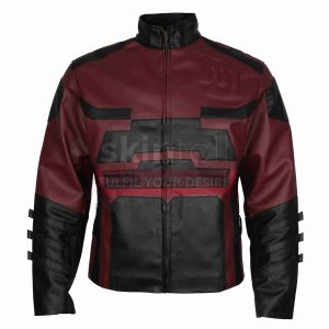 Cahrlie Cox Red Daredevil leather Jacket