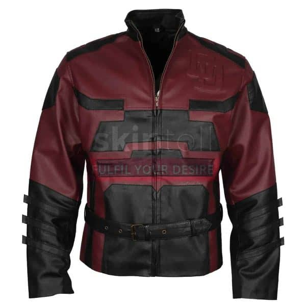 red-charlie-cox-daredevil-leather-jacket-front