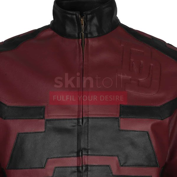 red-charlie-cox-daredevil-leather-jacket-logo