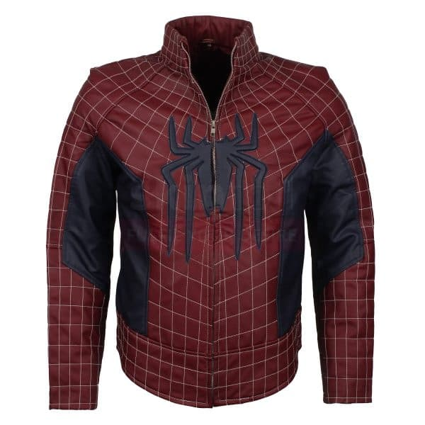 Spider Man 2 Peter Parker leather jacket