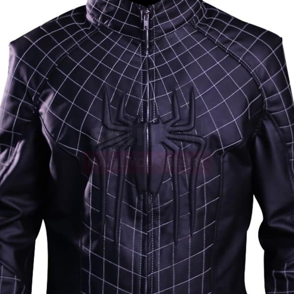 Spider black parker leather jacket