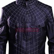 Spiderman 2 Peter Parker Mens Black Cosplay Leather Jacket