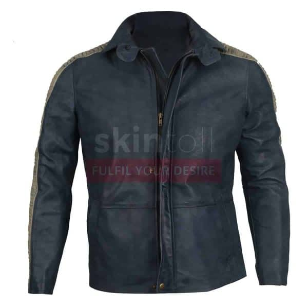 Star Wars Movie vintage real leather jacket Rogue One Fur Hooded