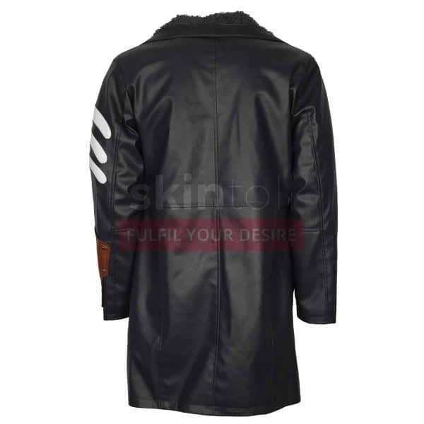 Suicide Squad Captain Boomerang Jai Courtney Fur Leather Coat