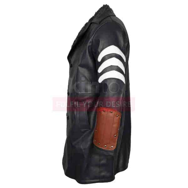 Suicide Squad Captain Boomerang Jai Courtney Leather Coat