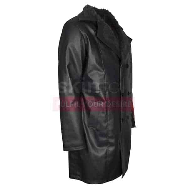 Suicide Squad Jai Courtney Captain Boomerang Fur Leather Coat