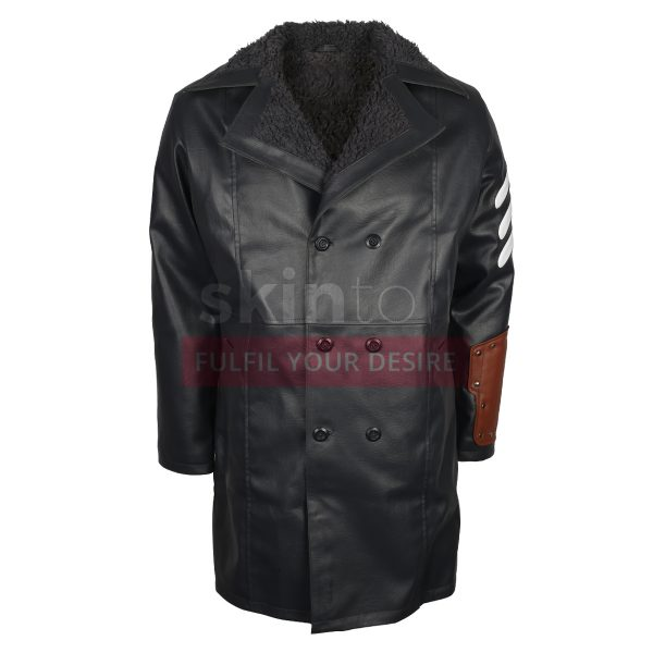 Boomerang Jai Courtney Suicide Squad Captain America Leather Coat With Fur