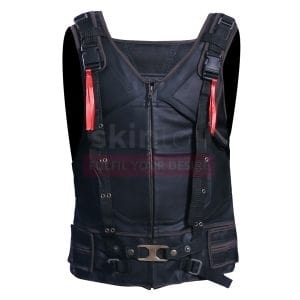 batman bane black leather vest
