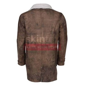 Dark Knight Rises Tom Hardy Bane Distressed Brown Leather Coat