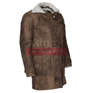 The Dark Knight Rises Tom Hardy Bane Distressed Brown Leather Coat