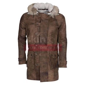 The Dark Knight Rises Tom Hardy bane hooded brown leather coats