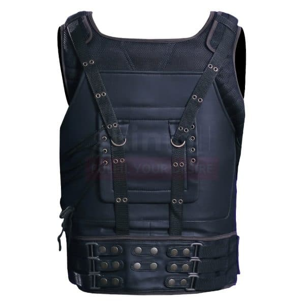 The Dark Knight Rises Tom Hardy's Leather Bane Vest back