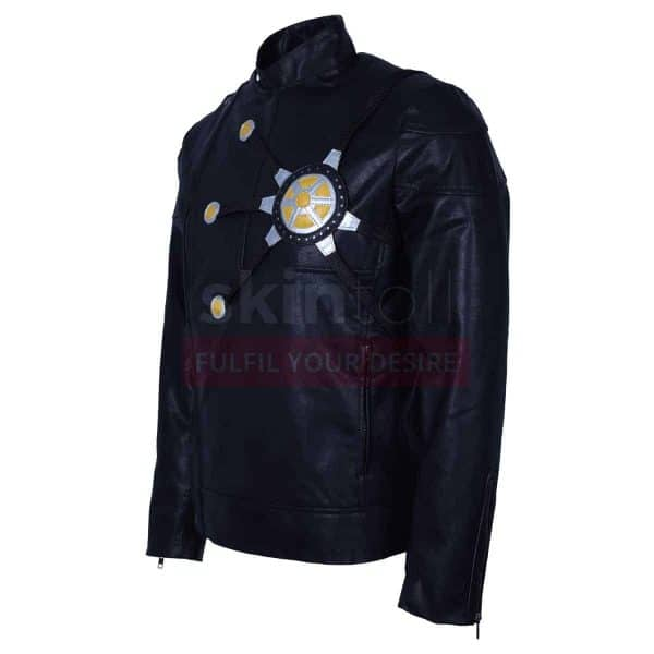 The Flash Fire Storm Comics Series Costume Black Cosplay Mens Leather Jacket