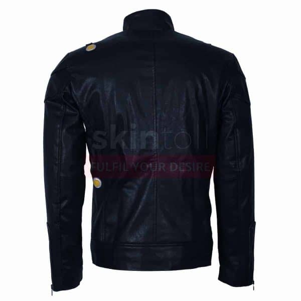 The Flash Fire Storm DC Comics Costume Black Cosplay Mens Leather Jacket
