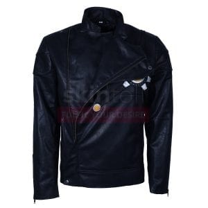 The Flash Fire Storm DC Comics Series Black Cosplay Leather Jacket