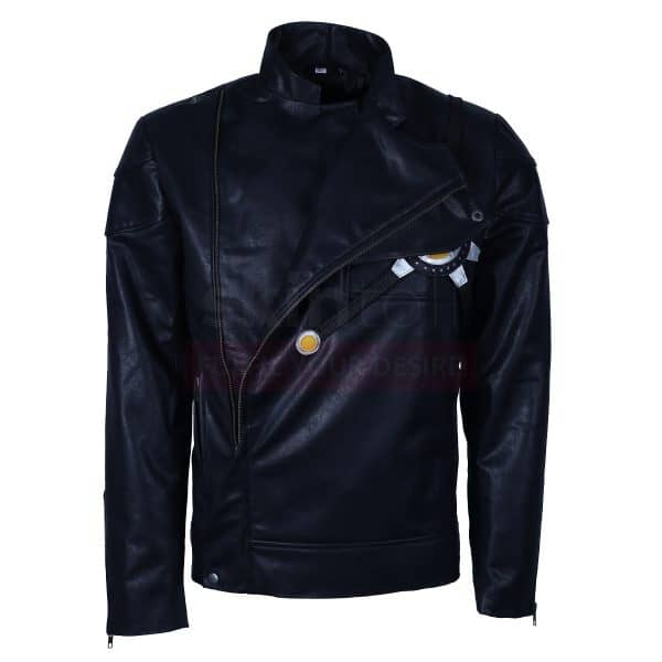 The Flash Fire Storm DC Comics Series Black Leather Jacket