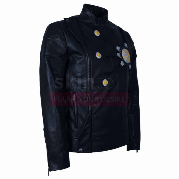 The Flash Fire Storm DC Comics Series Costume Black Mens Leather Jacket