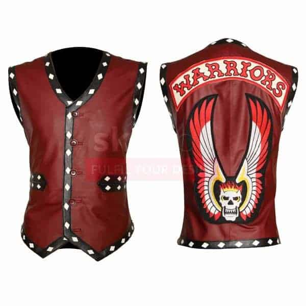 the-warriors-movie-white-diamond-maroon-motorbiker-leather-vest-jacket